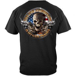 Second Amendment Apparel Skull T-shirts for men